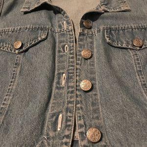 studio ease Jackets & Coats - Cropped blue jean vest!